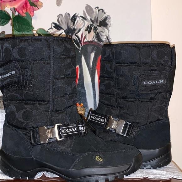 Coach winter black sandy boots